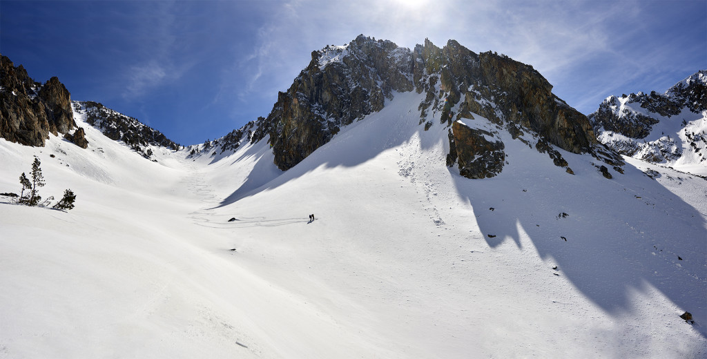 Skiing Off The Top of the Divide