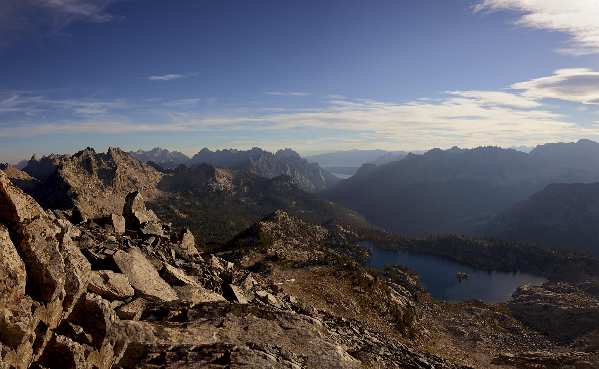 lake-kathryn-and-redfish-lake-from-reward-peak-summit