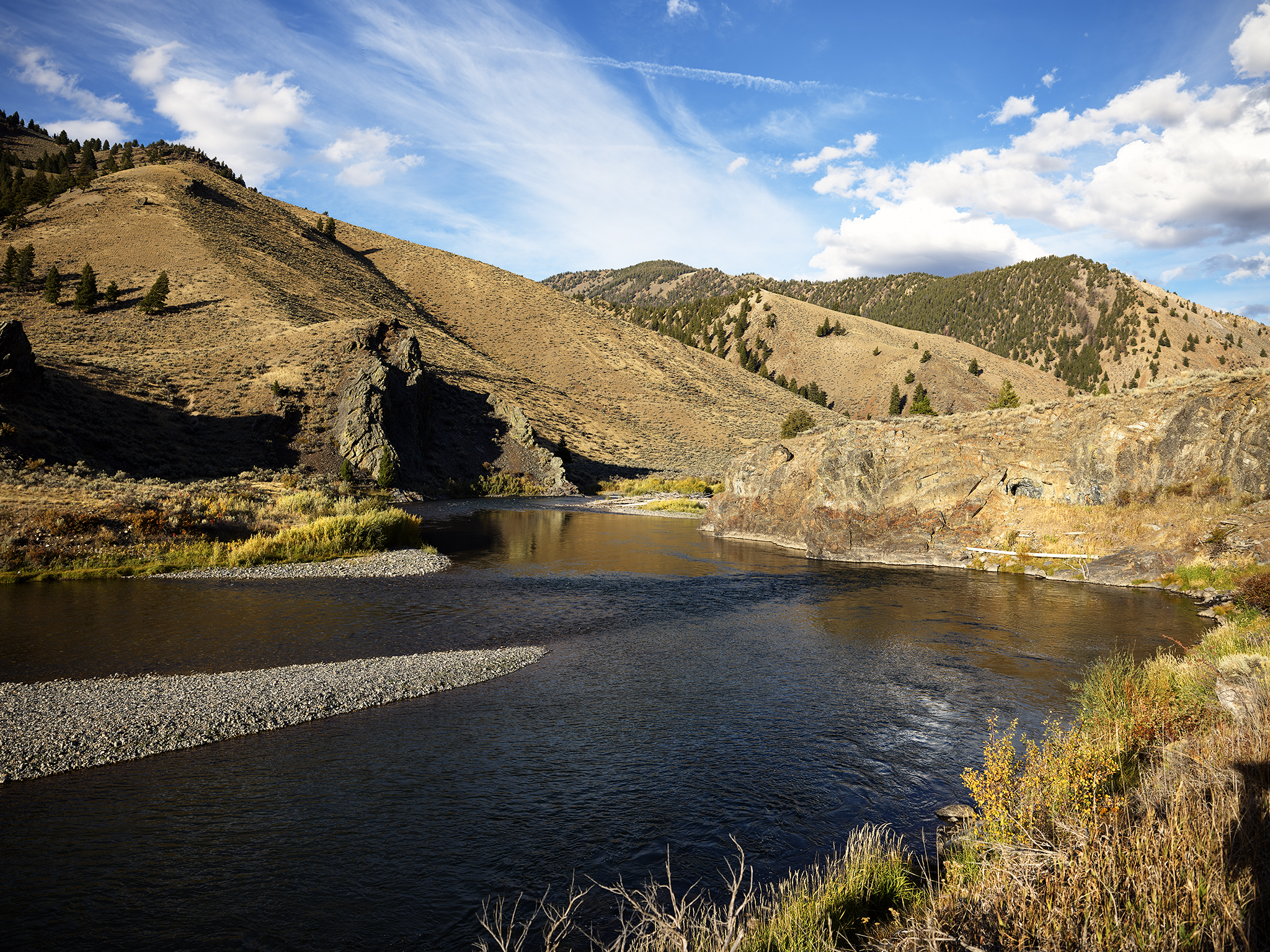 Bend in the Salmon River.