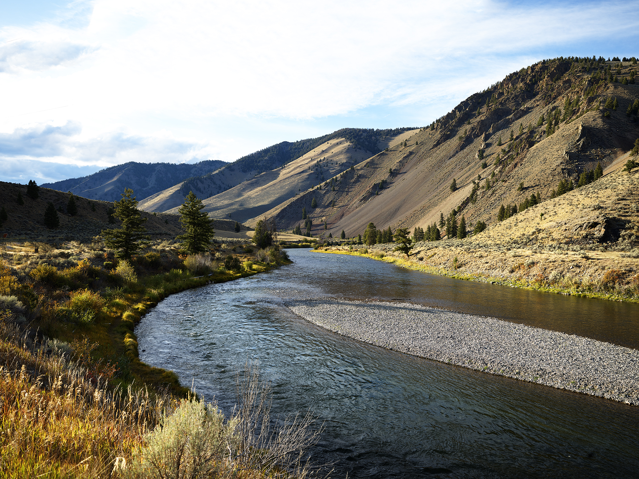 Salmon River in Fall.